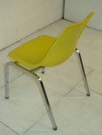 Yellow Fiberglass & Chromed Space Age Eames Era 1960's ...