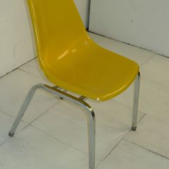 Yellow Chairs For Sale Purple Dining Uk Light Fiberglass And Chromed Space Age Eames Era