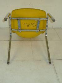 Light Yellow Fiberglass & Chromed Space Age Eames Era ...