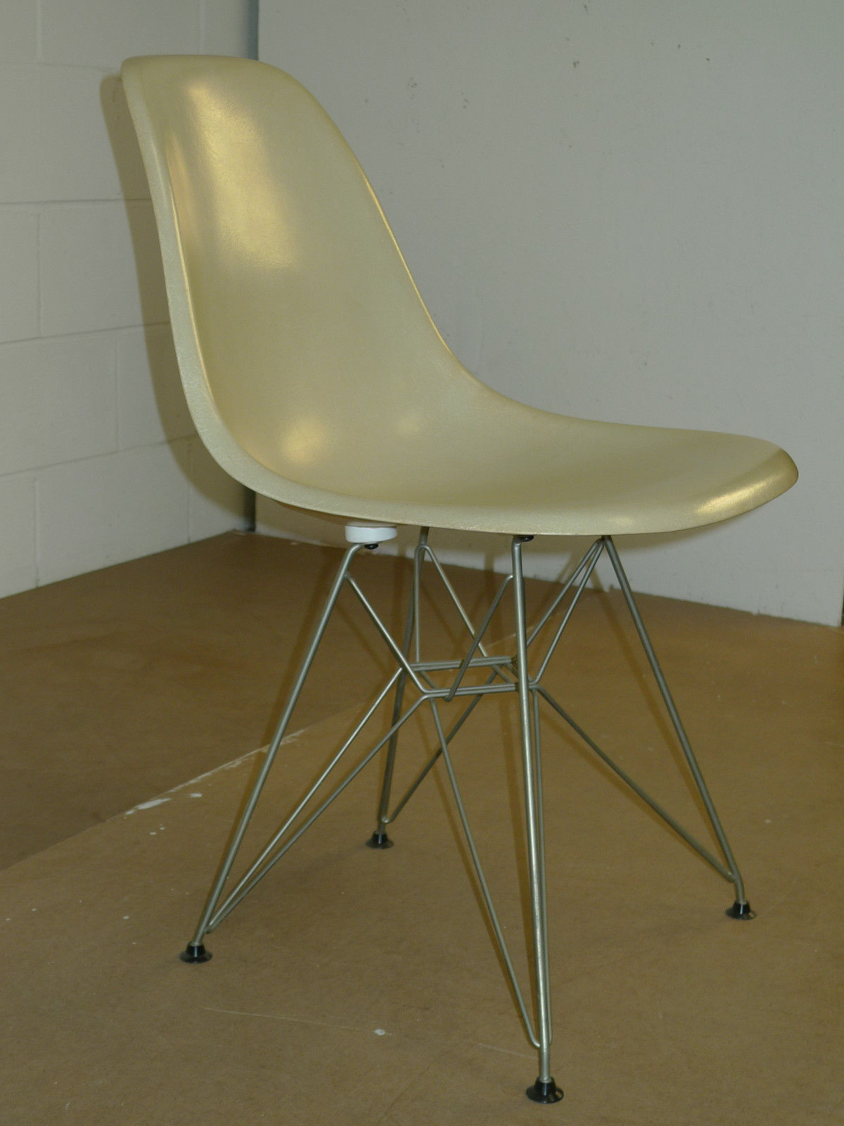 60s Herman Miller Eames Shell Chairs Vintage White