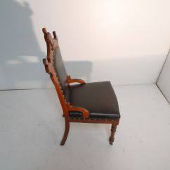 Eastlake Victorian Parlor Chairs Mid Century Rocking Chair Nursery Period Walnut Black