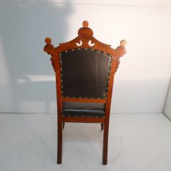 Eastlake Victorian Parlor Chairs Diy Skull Adirondack Chair Period Walnut Black Leather
