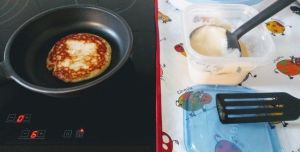 Cocinando pancakes o tortitas americanas
