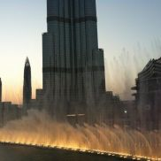 Espectáculo de las fuentes de Dubai