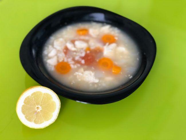 sopa de arroz blanco dieta blanda