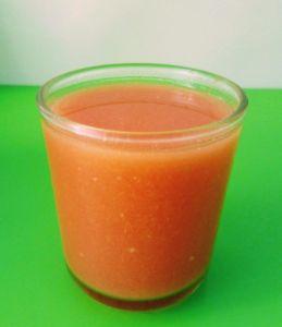 Gazpacho en vaso para beber