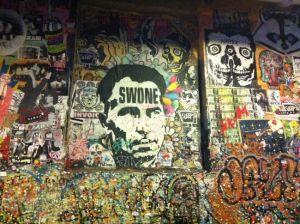 Foto del muro de chicles en Seattle