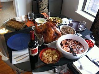 Pavo relleno para el Thanksgiving de 2013, en casa de Ramón y Pilar