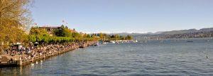 El lago de Zurich en mayo