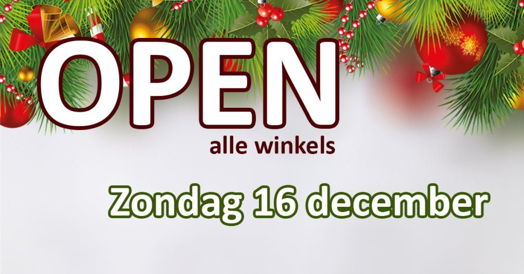 Zondag 16 december alle winkels open in Shopping Park Olen