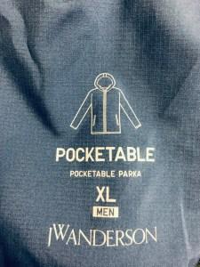 ポケッタブルパーカの袋