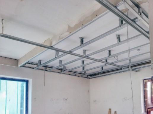 Алюминиевые профили гипсокартонного потолка