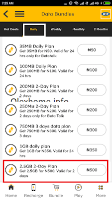 mtn N500 for 2.5gb cheat