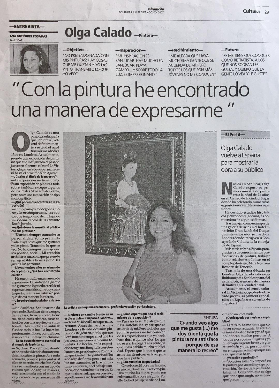 Interview Exhibition by Olga Calado La Victoria