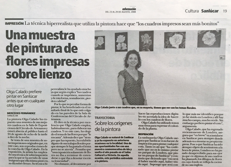 Exhibition by Olga Calado Circulo de Artesanos Sanlucar de Barrameda