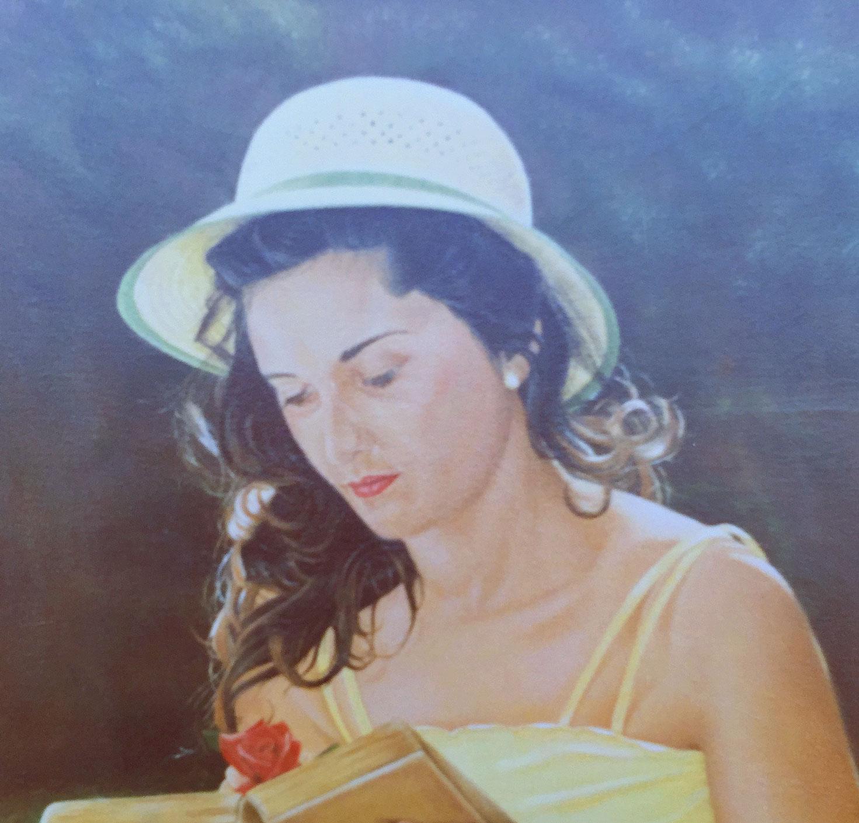 Portrait by Olga Calado of girl reading