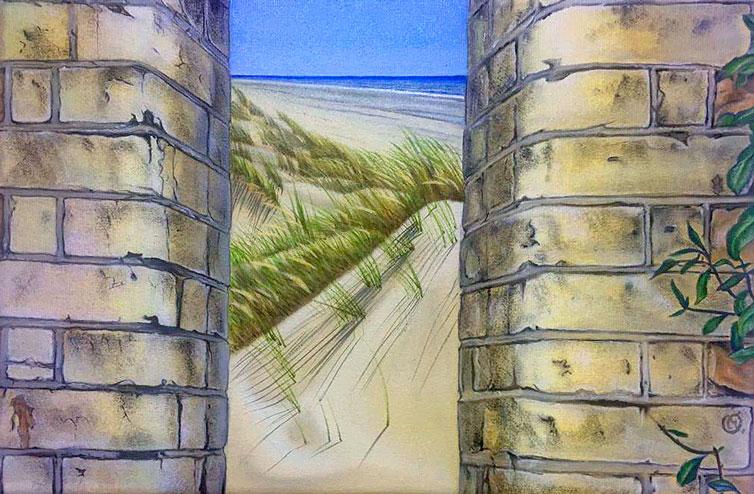 Art  seen between walls