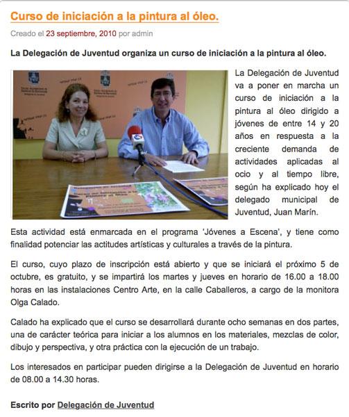 Presentation to the Media of the Art Course in Sanlucar de Barrameda