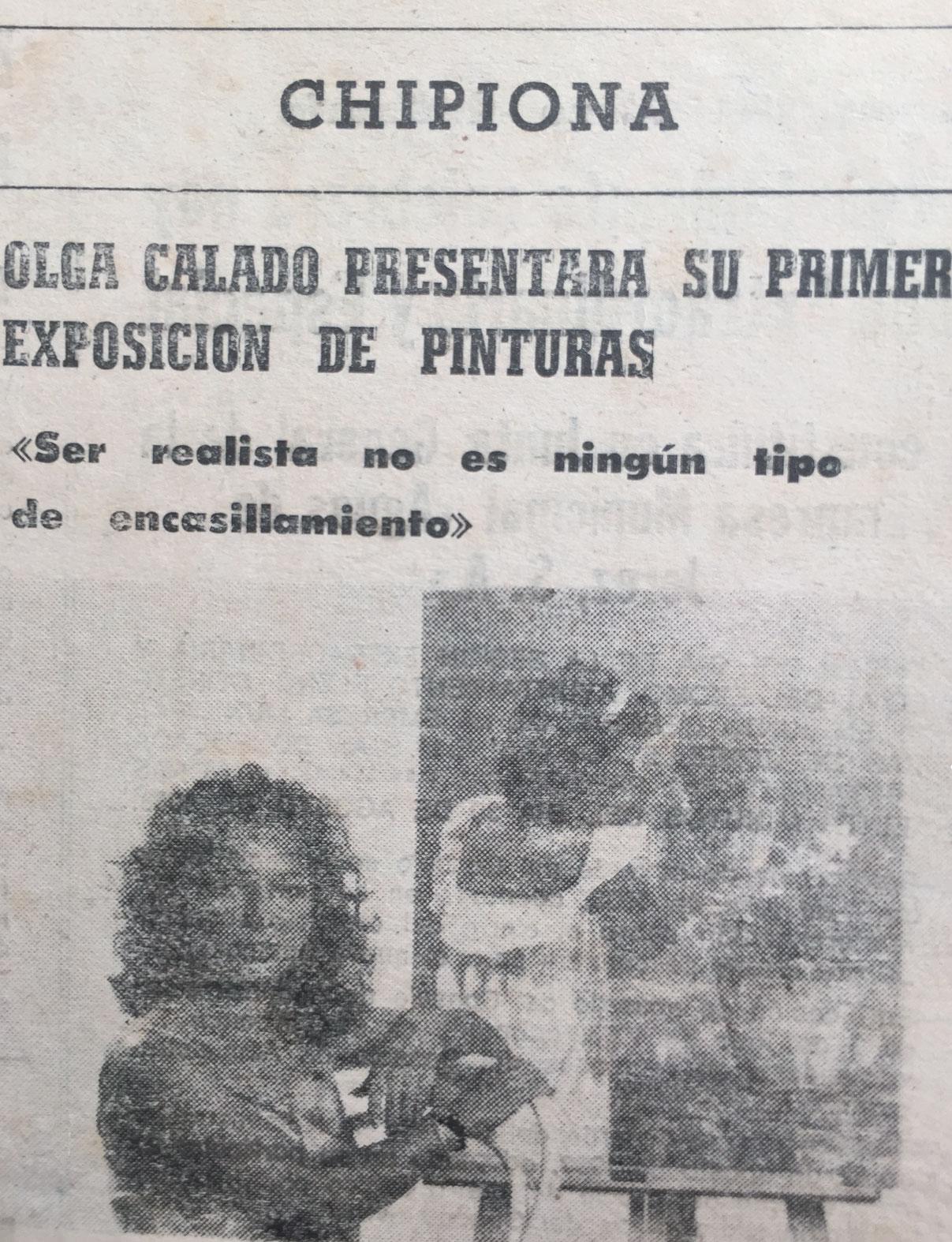 Photo Interview First Exhibition Olga Calado