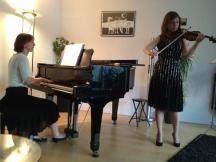Aleksandra Liubomirova, viool en Olga de Kort, piano - 2 juni 2012 - foto: T.v.d.Wege