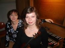 A.Liubomirova (viool), O.de Kort (orgel)