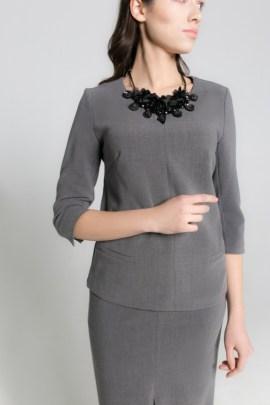 Серая блуза