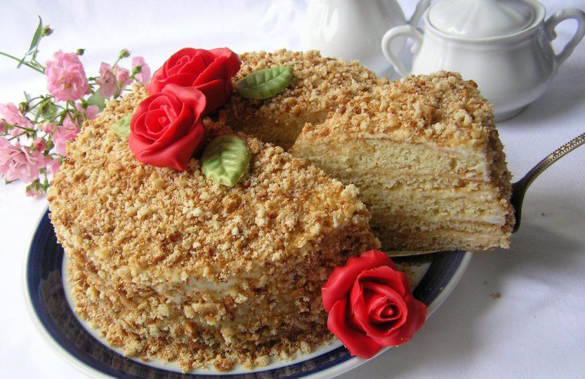 Russische Torten backen Honigtorte  Olga kocht und backt