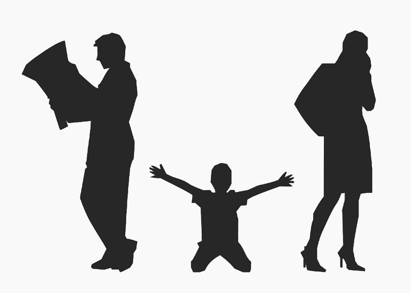 divorce, parents, child