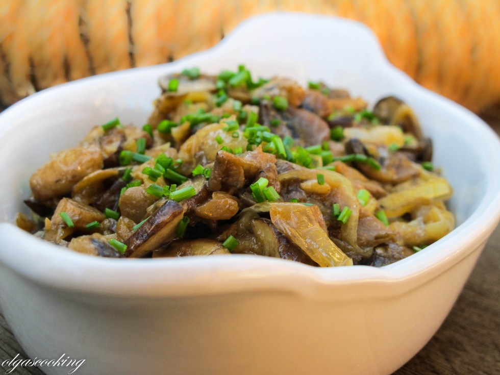 Mushrooms with Caramelized Onions