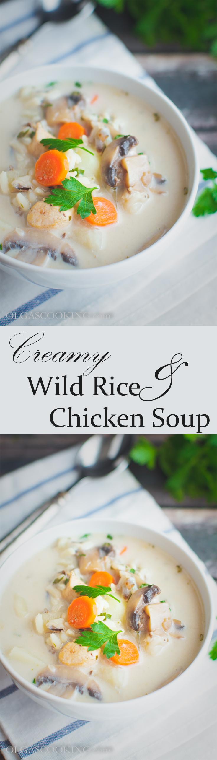 Creamy Wild Rice & Chicken Soup