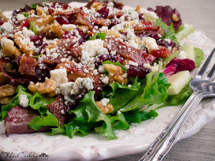 Apple Walnut Salad with Gorgonzola Cheese