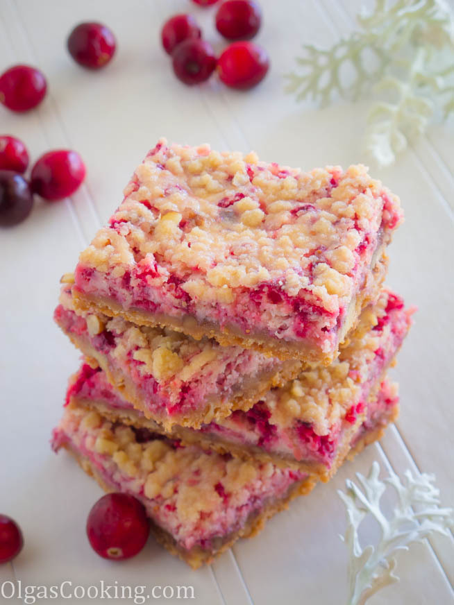 Cranberry Cheese Cake Bars
