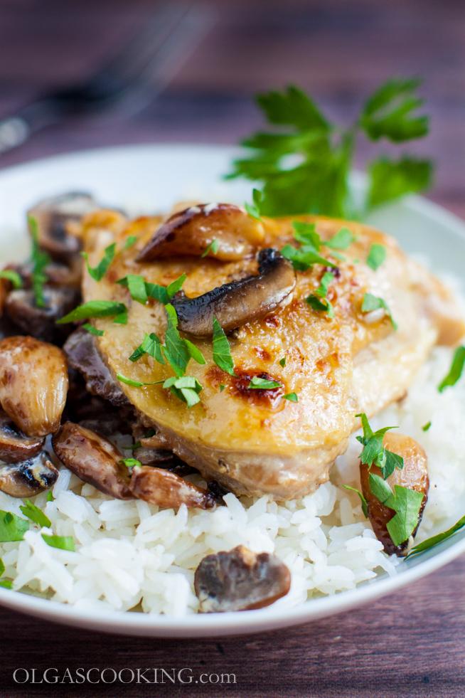 Roasted Garlic Clove Chicken