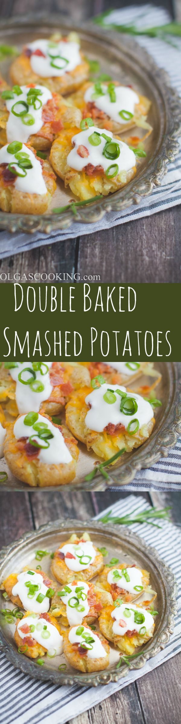 Double Baked Smashed Potatoes...So yummy and delicious!