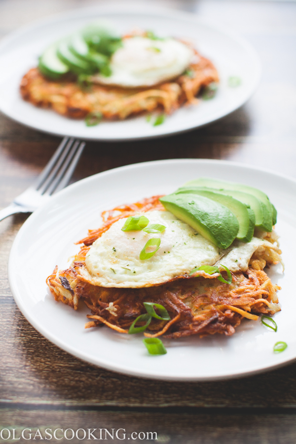 Egg & Potato Latke Breakfast