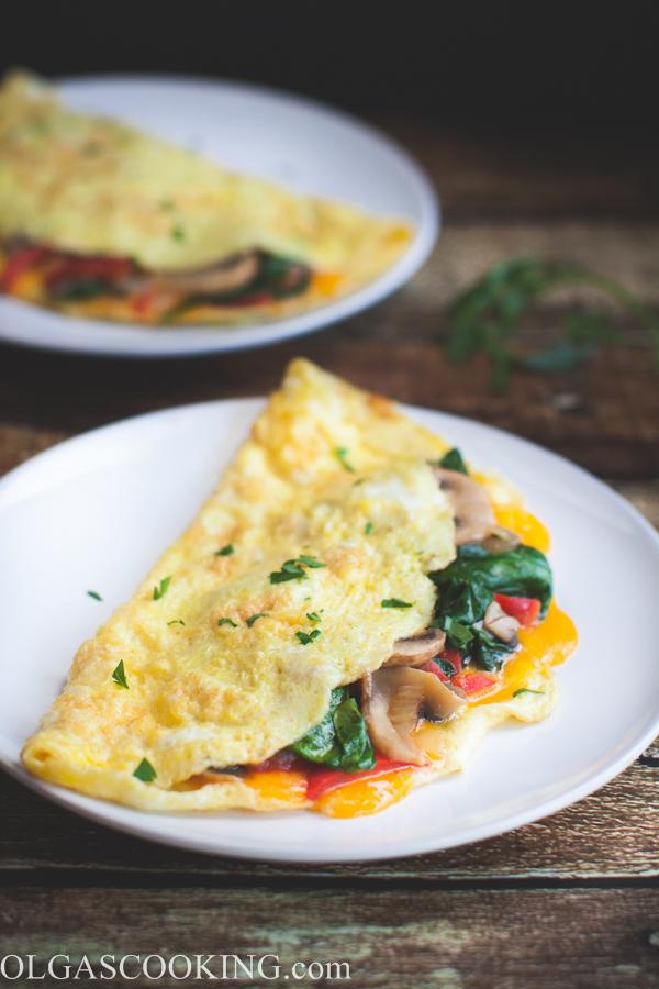 Mushroom & Spinach Omelet