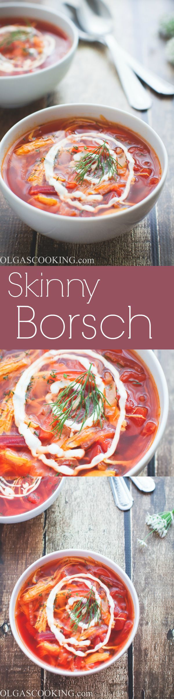 30-min Skinny Borsch. A healthier alternative to the traditional version!