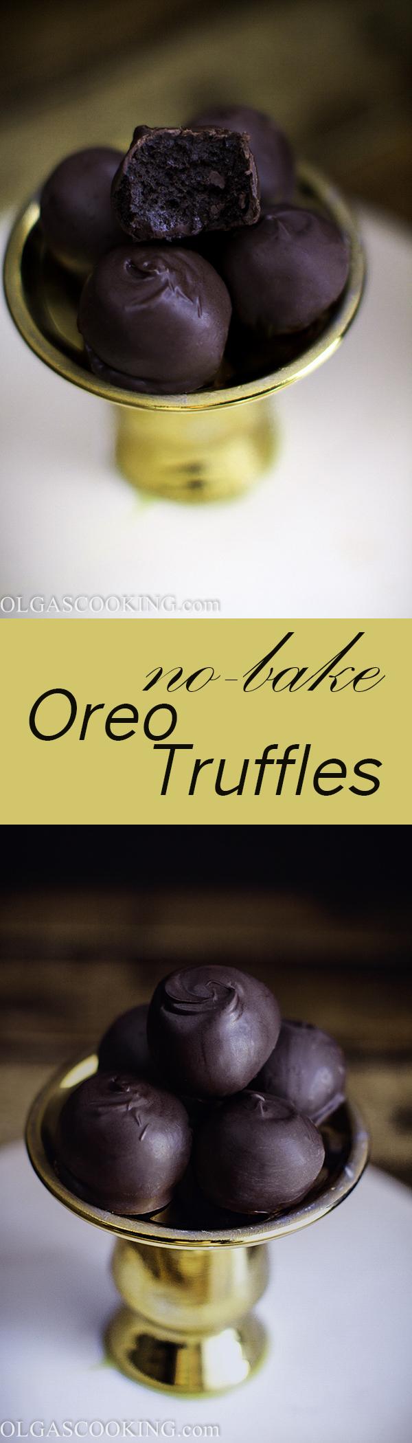 No-bake Oreo Truffles. Simple chocolate goodness!