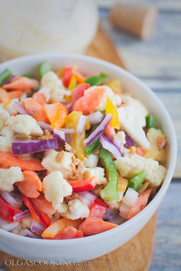 cauliflower bell pepepr salad-12