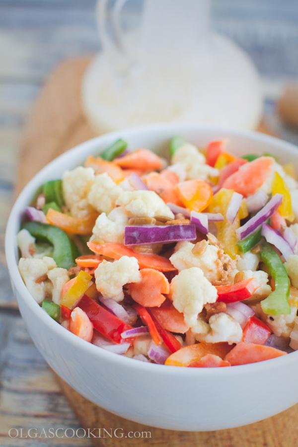 cauliflower bell pepepr salad-14