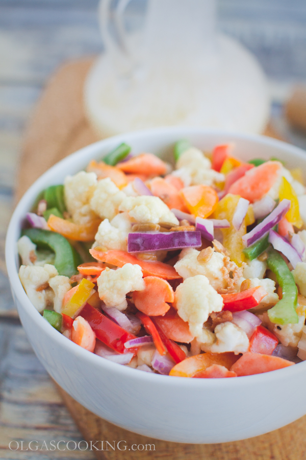 cauliflower bell pepepr salad-14