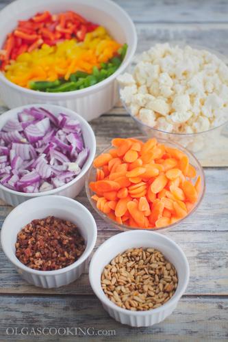 cauliflower bell pepepr salad-8
