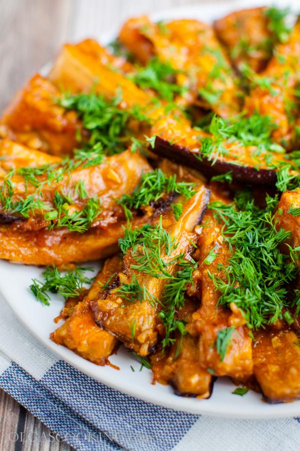 Eggplant in Garlic BBQ Sauce
