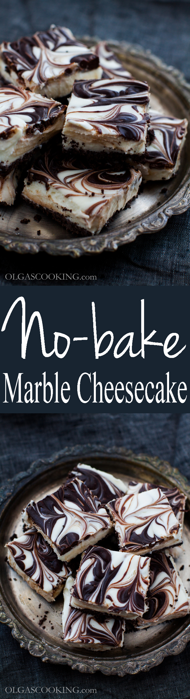 No-bake Marble Cheesecake Bites