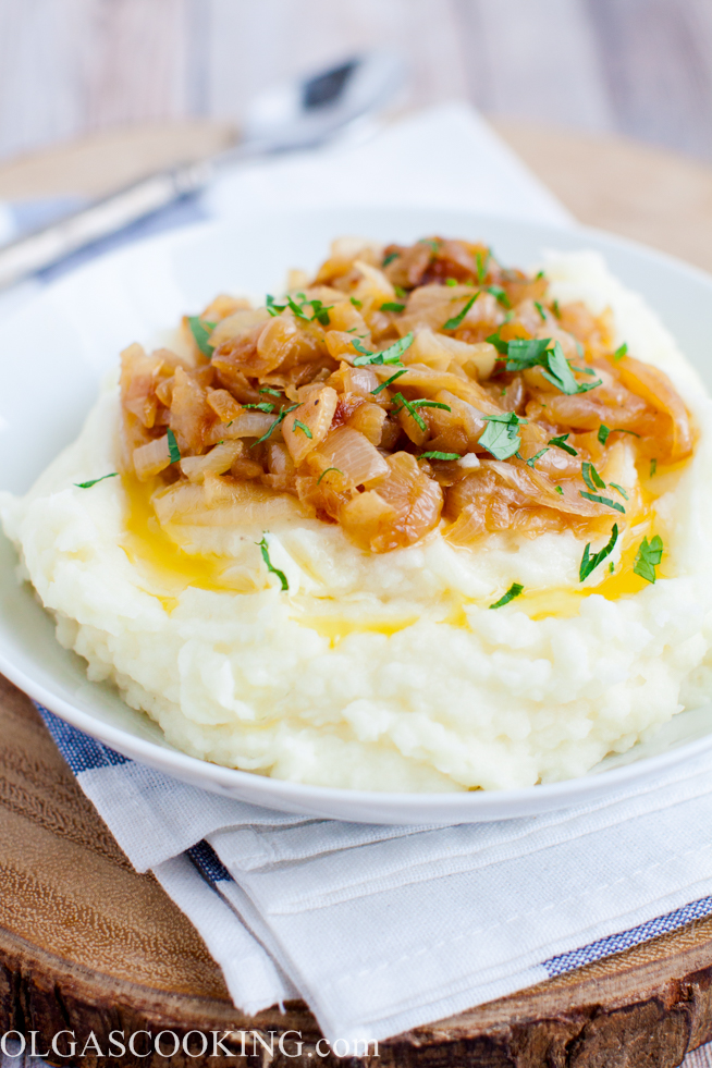 Mashed Potatoes with Caramelized Onions
