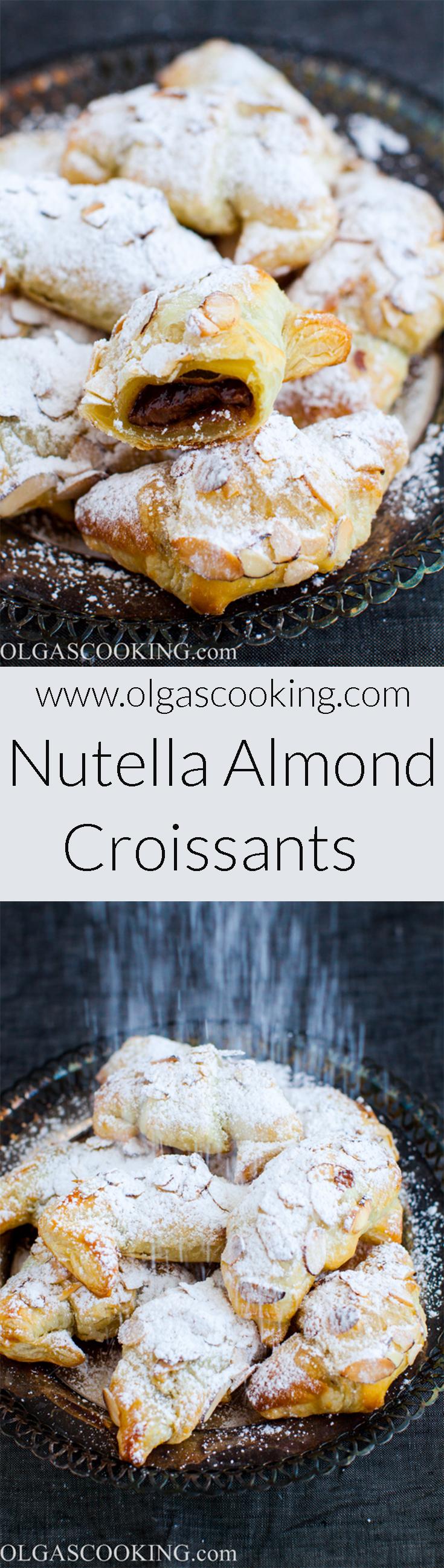 Nutella Almond Croissants