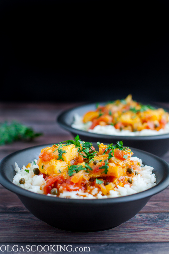 Cod in Spicy Tomato Sauce
