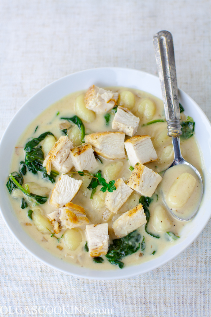 One-Pan Creamy Chicken and Gnocchi