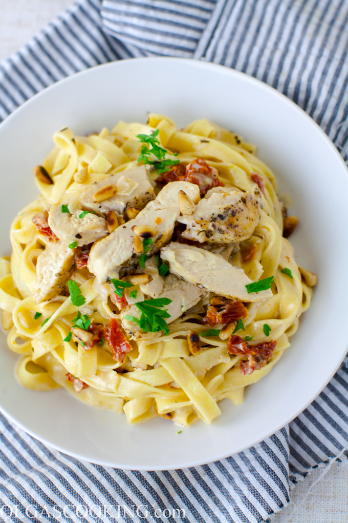 Chicken and Sun Dried Tomato Fettuccine