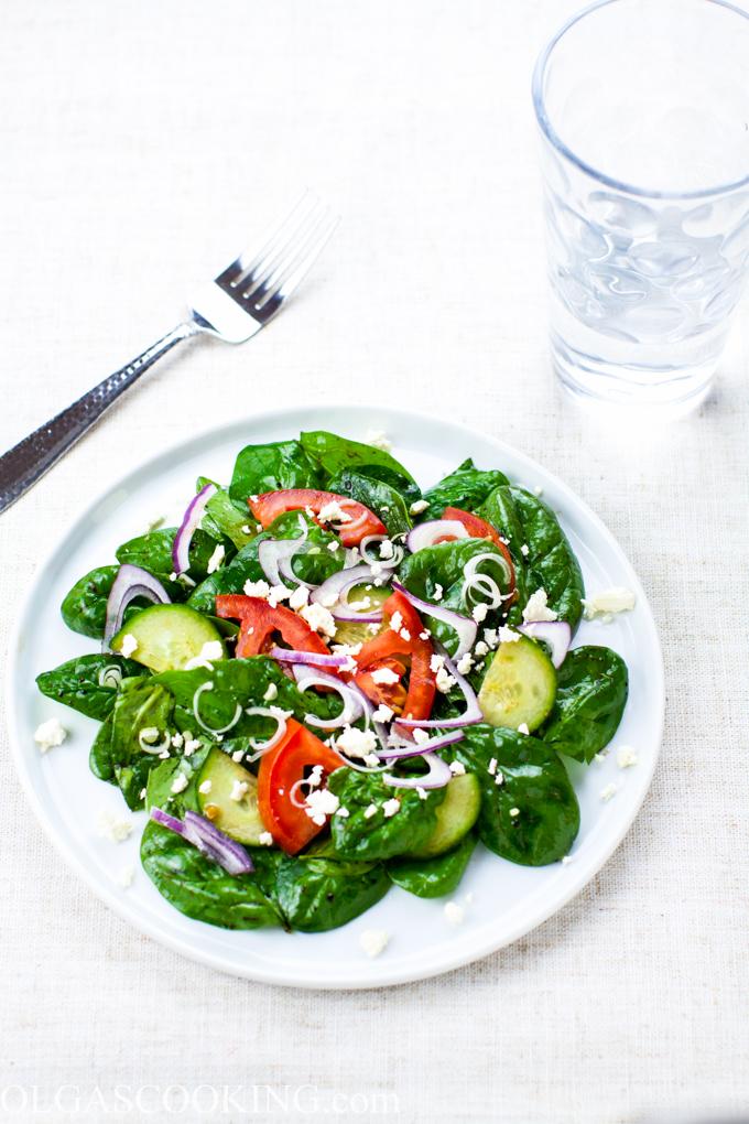 Garden Spinach Salad
